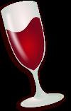 Wine Logo Glass