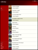 Library menu