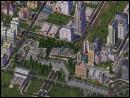 Closeup of a city.