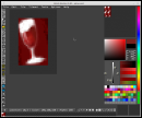 editing tile of wine